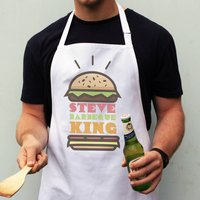 Personalised Burger Barbecue Apron Gift For Him