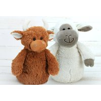 Door Stop Characters, Sheep And Highland Cow Set