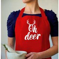 'Oh Deer' Christmas Apron