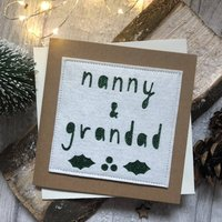 Grandparents Felt Christmas Card