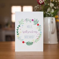 Personalised Will You Be My Bridesmaid Wedding Card