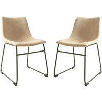 Dexter Moleskin Oyster Cream Set Of Two Dining Chairs