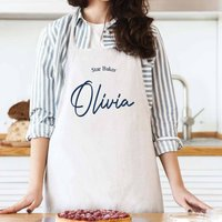 Personalised Head Chef Cotton Bake Off Apron