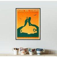 Personalised Playa Del Carmen Travel Print