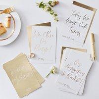 Gold Foiled Wedding Milestone Cards