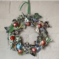 Christmas Wreath Made From Drinks Cans