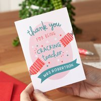 Cracking Teacher Personalised Christmas Card