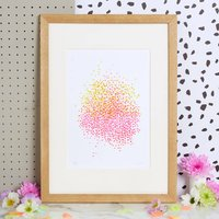 Seed Art Print With Wildflower Seeds