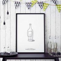 'Fine Wine' Personalised Print
