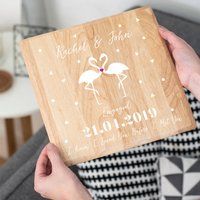 Personalised Engagement Flamingo Print