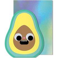 Googly Eye Birthday Avocado Card