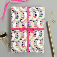 Pack Of Eight Bird Patterned Greetings Cards, Gift Set