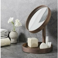 Walnut Contemporary Magnify Mirror