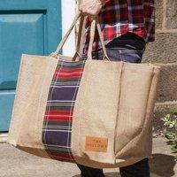 Personalised Natural Jute Log Bag