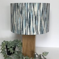 Marine Blue Grey Abstract Lampshade