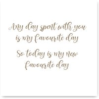 Favorite Day Winnie The Poo Quote Card