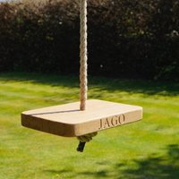 Personalised Wooden Monkey Rope Tree Swing