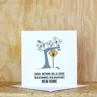 Personalised Koala New Home Card