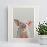 Piglet Peekaboo Farmyard Animal Print