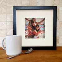 Personalised Hanging Message 3D Photo Frame, Black/White