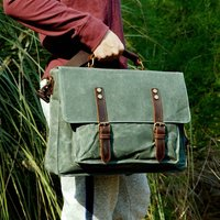 Waxed Canvas Water Repellent Messenger