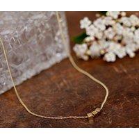 Nine Carat Gold Cube Necklace, Gold