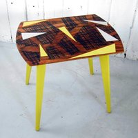 Geometric Painted Coffee Table