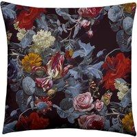 Ashmolean Tumbling Rose Garden Piped Velvet Cushion