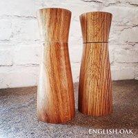 Handmade English Oak Salt And Pepper Mill Set
