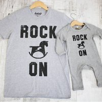 Rock On Dad And Baby Father's Day Set