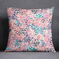 Pink Speckled Watercolour Paint Dots Cushion