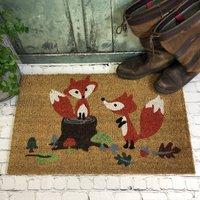 Playful Fox Coir Doormat