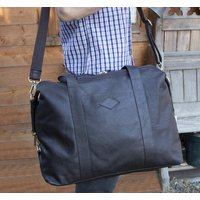 Elpaso Brown Thick Leather Holdall