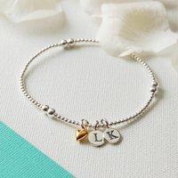 Personalised Silver Bead Bracelet, Silver