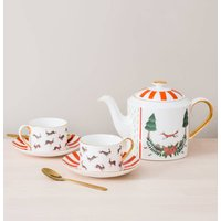 Fox And Rabbits Bone China Teapot