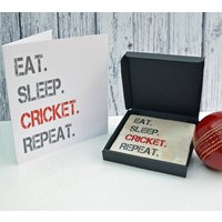 Gift Set Cricket Coaster And Card