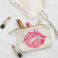 Personalised Smile Kit Lipstick Bag