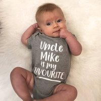 My Uncle Is My Favourite Personalised Babygrow