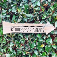 Outdoor Cinema Personalised Sign