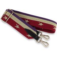 Burgundy Stars And Stripes Canvas Handbag Strap
