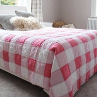 Pink Gingham Quilt