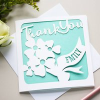 Personalised Thank You Flowers Card