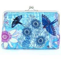 Passion Blue Silk Clutch Bag, Blue