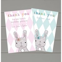 Personalised Bunny Thank You Cards