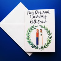 Wedding Peg Portrait Gift Card
