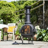 Steel Chiminea With Grill With A Choice Of Three Sizes