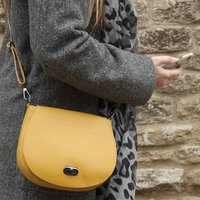 Leather Colourful Saddlebag Handbag