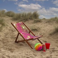 Stretch Out Vibrant Pink Summer Lounger