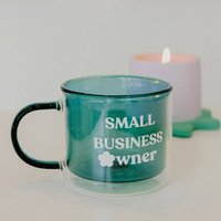 Small Business Owner Double Walled Mug Six Colours