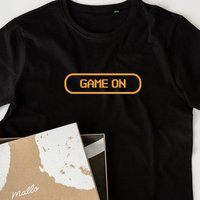 Organic Cotton 'Game On' T Shirt For Gamers
